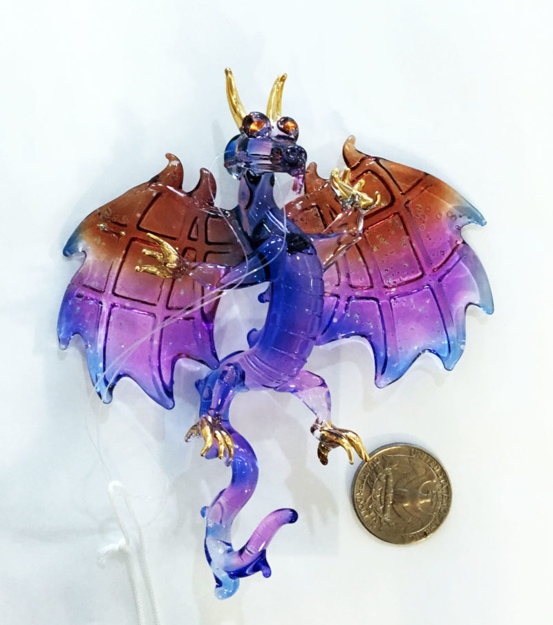 Dragon winged purple with Coin