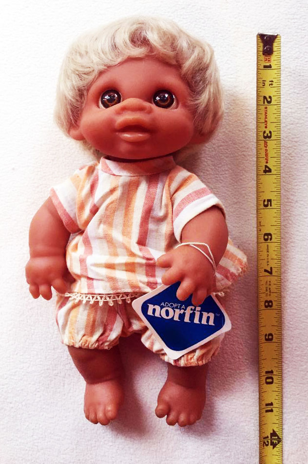 Norfin Troll Doll Toddler with ruler