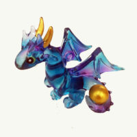 Baby Blue Dragon Glass Ornament