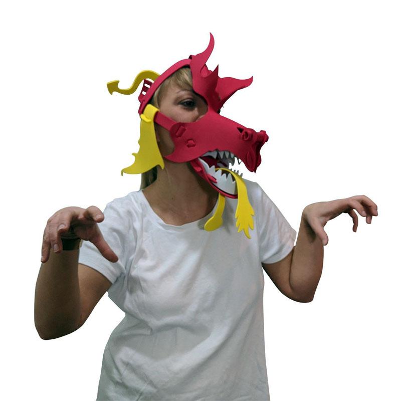 Red Dragon Mask Cap