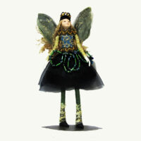 Jade Jewel Fairy Doll Ornament