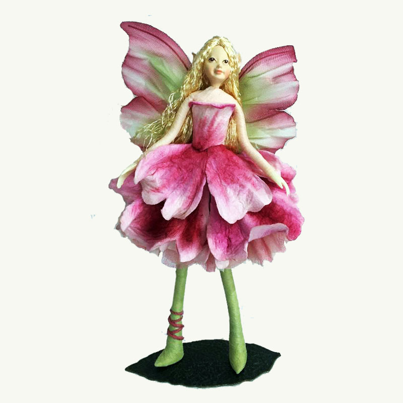 Pink Peony Fairy Doll Ornament