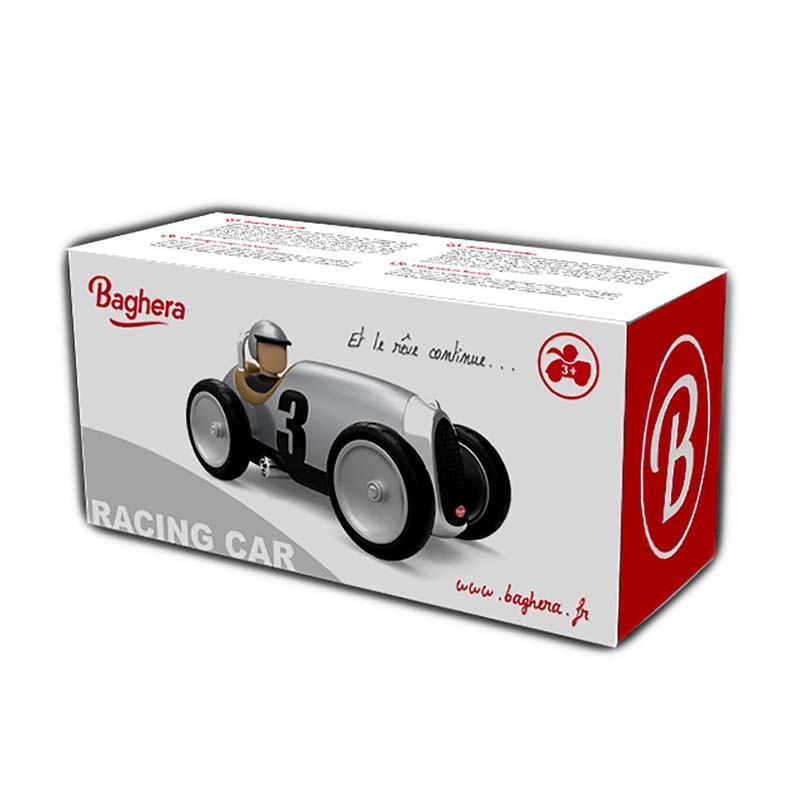 Baghera Silver Racing Car Box