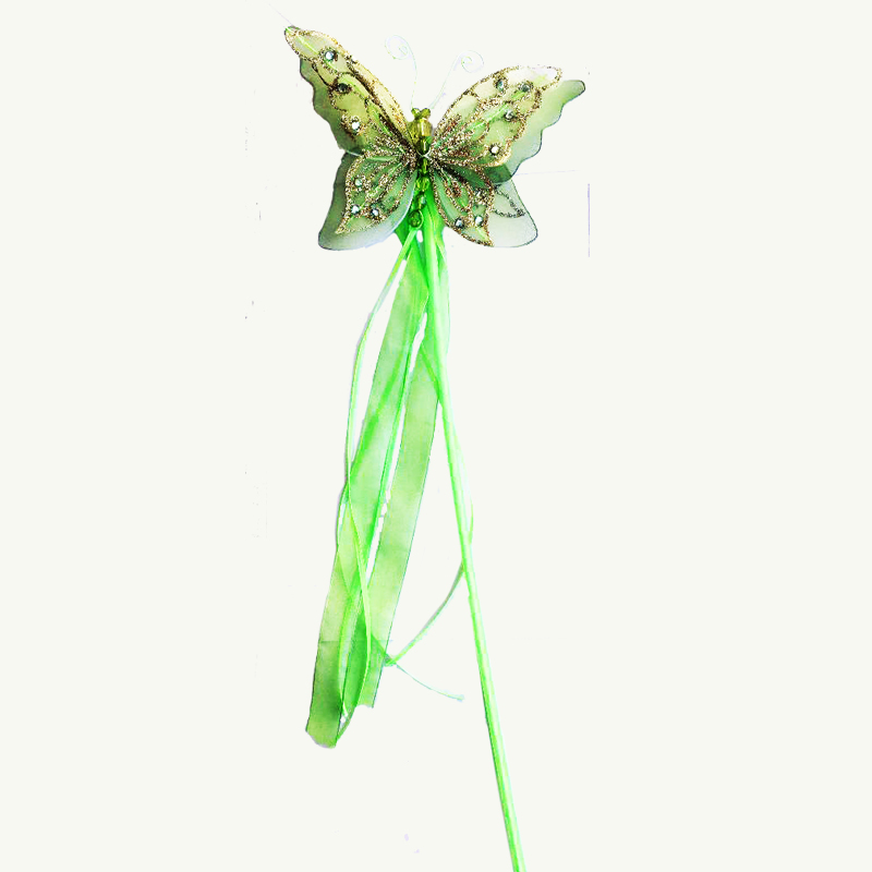 butterfly fairy wand lime green